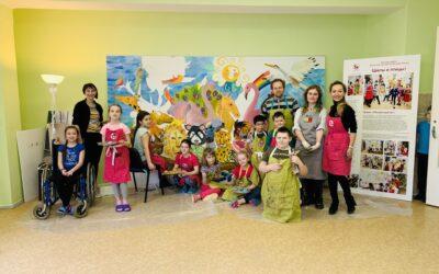 Проект «Ковчег» фонда «Мы рисуем!» реализован в детской городской больнице №22 в Колпино
