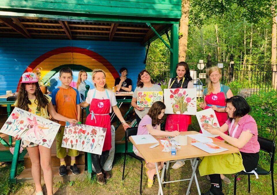 Вместе с петербургским фондом «Добрый волшебник» в рамках благотворительной программы Валерия Лошак провела мастер-класс