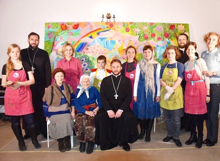 В Рождественский пост воспитанники воскресной школы Иоанно-Богословского храма г.Кудрово приняли участие в проекте «Рисуем вместе»