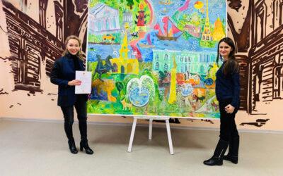 Творческая мастерская Валерии Лошак и БФ «Мы рисуем» подготовили подарок на День Рождения Комитета по Молодедной Политике и взаимодействию с общественными организациями!