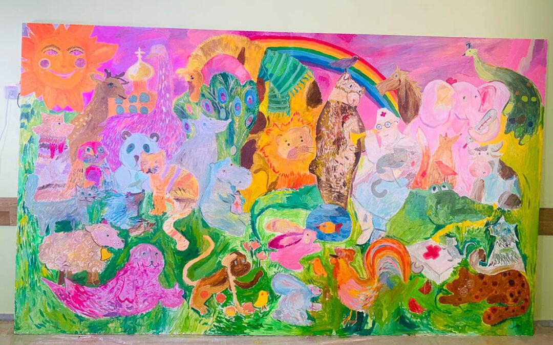 ПередНовым годом состоялась торжественная передача руководству Детской Больницы № 22 г. Колпино картин, созданных в рамках проекта «Рисуем вместе!»