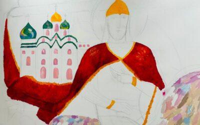 Создаем монументальную картину «Святой Александр Невский» , приуроченную к 800-летию благоверного князя