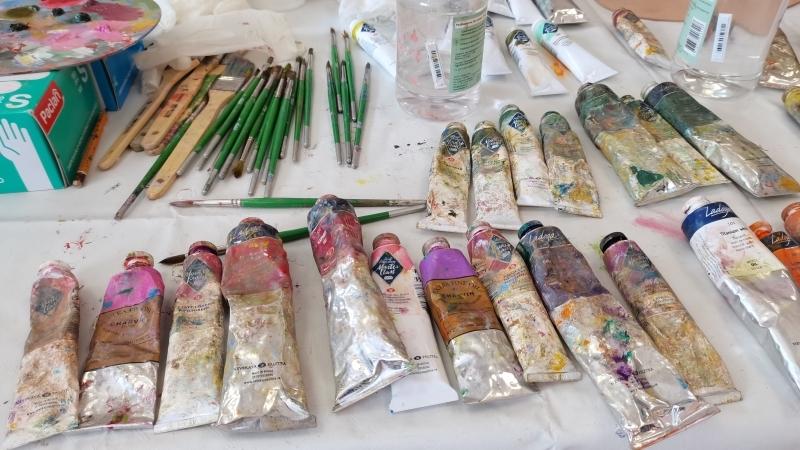 Невские Новости. Мощная арт-терапия: пациенты военного Госпиталя создали картину «Цветы России»